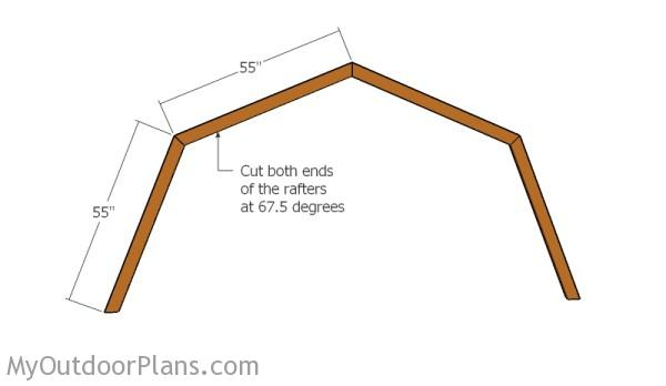 12x16 Gambrel Shed Roof Plans | MyOutdoorPlans | Free Woodworking ...