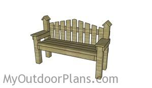 Country bench plans