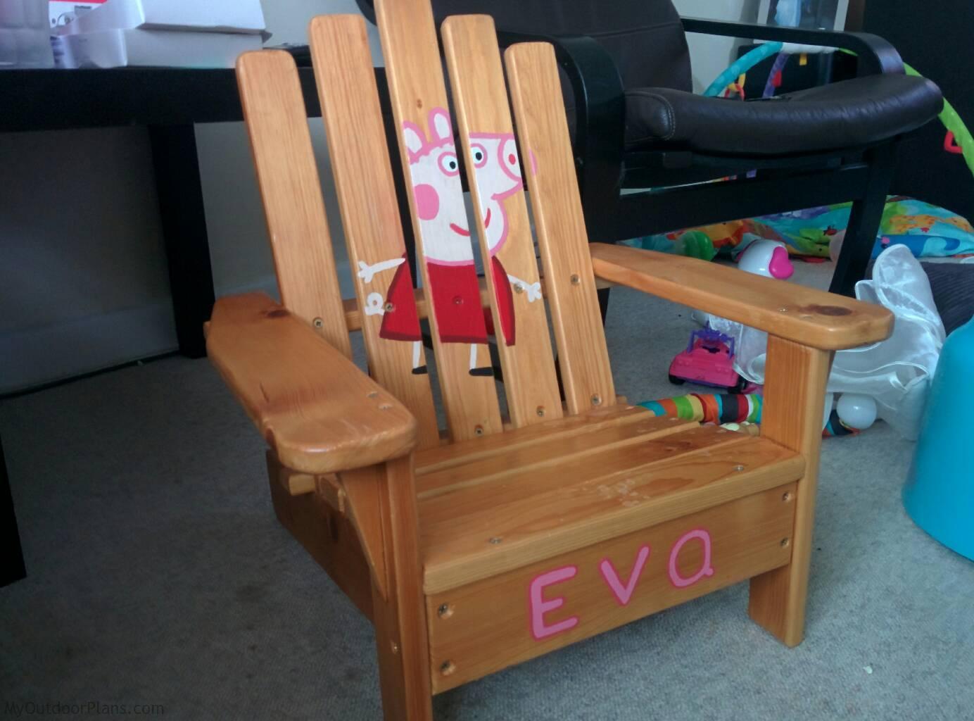 Excellent Diy Kids Adirondack Chair Myoutdoorplans Free Pabps2019 Chair Design Images Pabps2019Com