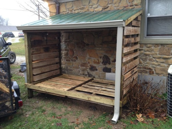 DIY Lean to Wood Shed