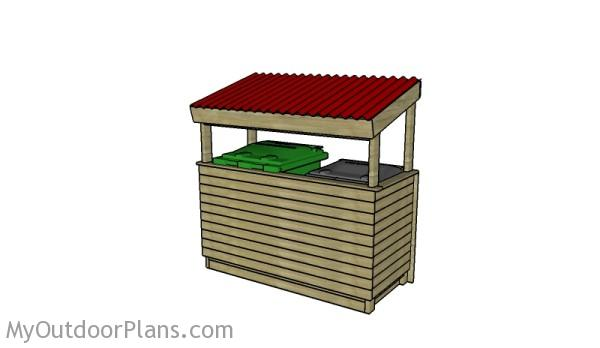 DIY Trash shed plans