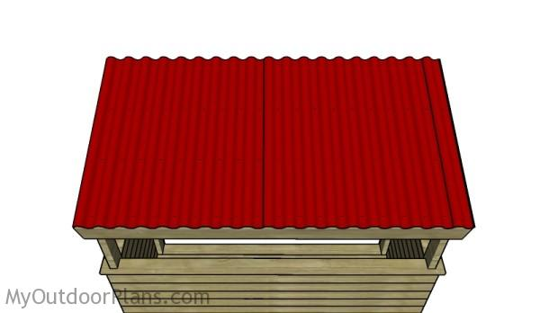 Fitting the corrugated sheets