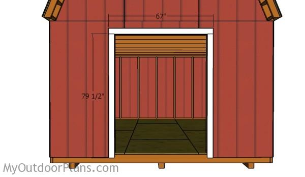 How to build double shed doors myoutdoorplans free for Double door shed plans