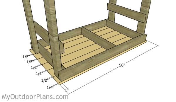 Fitting the tabletop slats