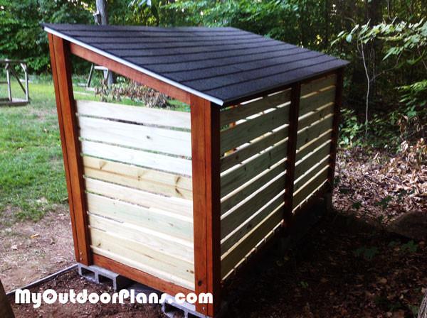 1 Cord Firewood Shed Myoutdoorplans Free Woodworking