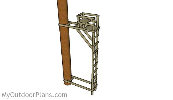 ladder tree stand plans - Wooden A Frame Ladder