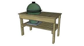 Large Big Green Egg Table Plans