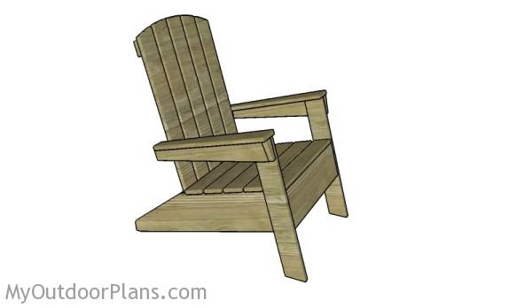 Modern Adirondack Chair Plans  sc 1 st  MyOutdoorPlans & Modern Adirondack Chair Plans | MyOutdoorPlans | Free Woodworking ...