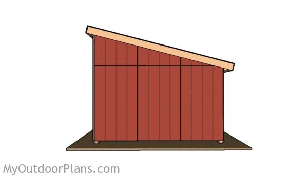 Run in shed - Side view