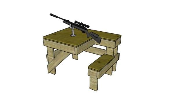 Shooting Table Plans | MyOutdoorPlans | Free Woodworking ...