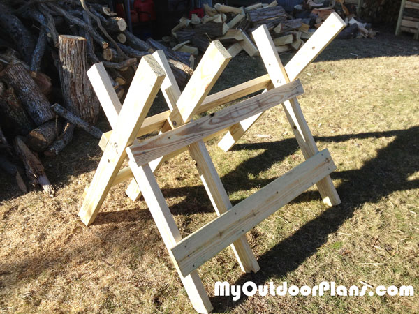 DIY Log Sawhorse | MyOutdoorPlans | Free Woodworking Plans ...