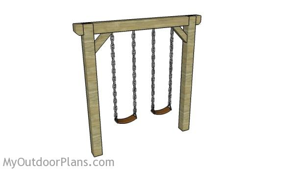 Simple Swing Set Plans | MyOutdoorPlans | Free Woodworking Plans and ...