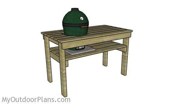 Small big green egg table plans