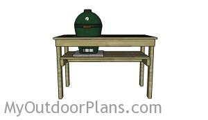 Small green egg table plans