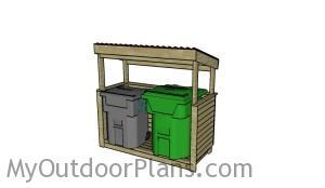 Trash shed plans