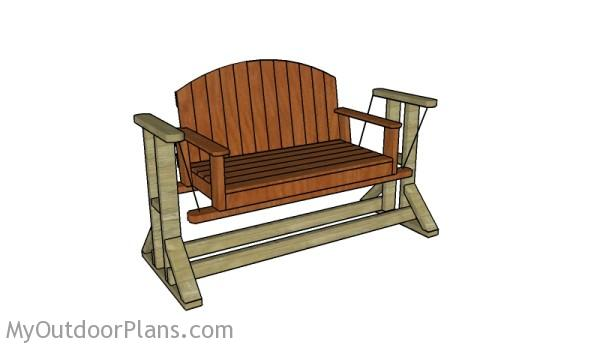 Wooden glider swing plans