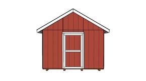 12×12 Shed Door Plans