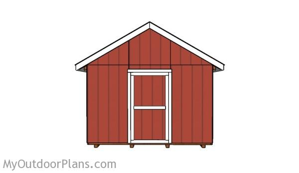 12x12 shed - Front face