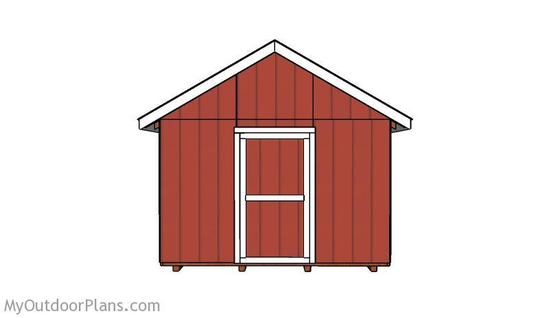 12x12 Shed Door Plans
