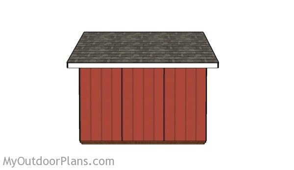 12x12 shed - Side view