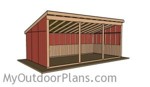 12x24 Cattle Shed Plans