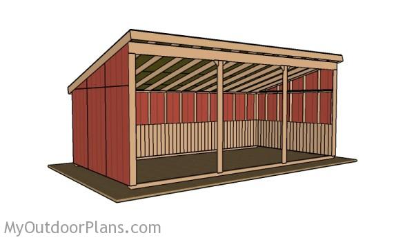 12x24 loafing shed roof plans myoutdoorplans free for 18 x 24 shed plans