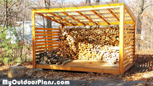 8x12 Firewood Shed
