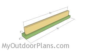 Assembling the I beam