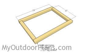 Assembling the bottom frame