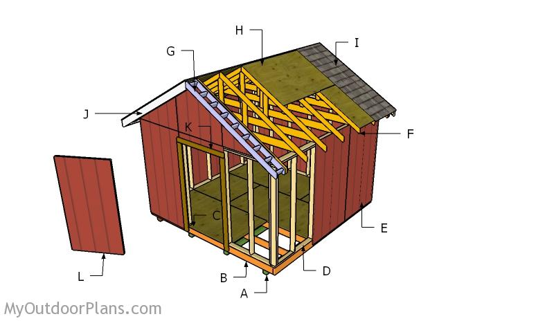 12x12 Shed Roof Plans