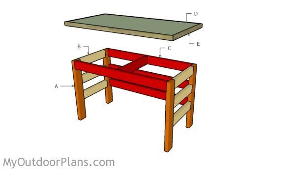 Building a 2x4 desk