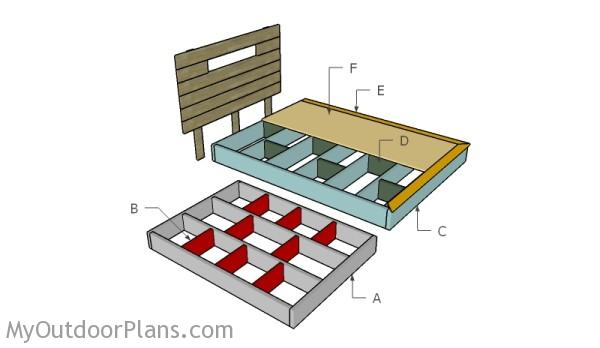 Building a floating bed frame