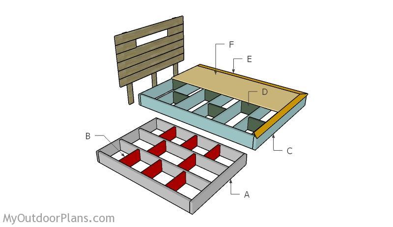floating bed frame plans free woodworking pla