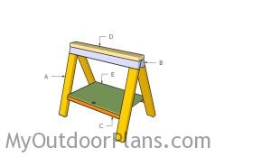 Building a folding sawhorse