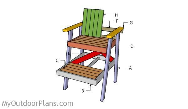 Building a lifeguard chair