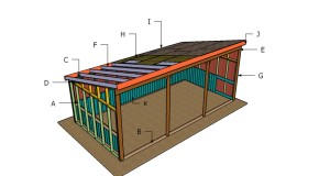 12×24 Loafing Shed Roof Plans
