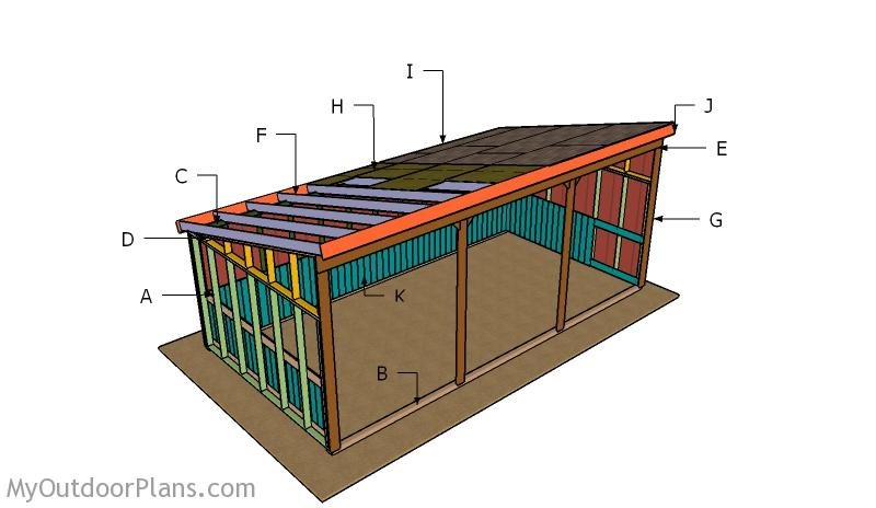 12x24 Loafing Shed Roof Plans