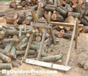 DIY Log Saw Horse