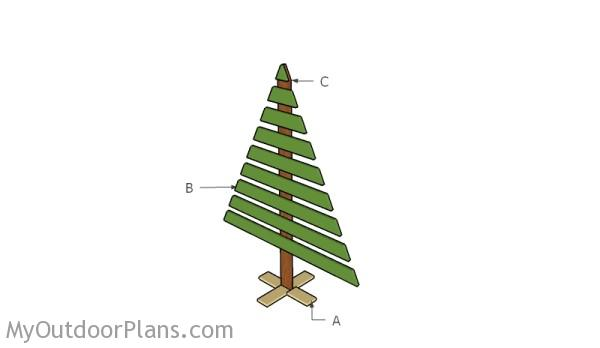 Building a wood christmas tree