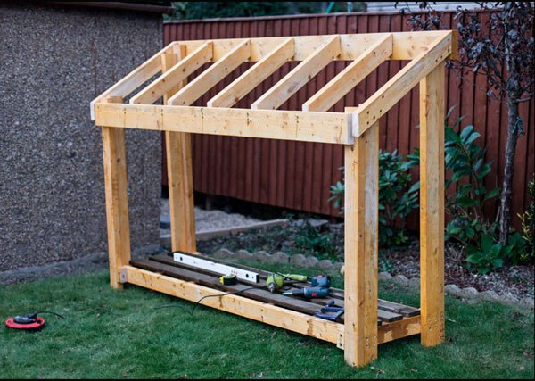 Diy small wood shed myoutdoorplans free woodworking for How to build a pole shed step by step