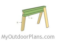 Building an i-beam sawhorse