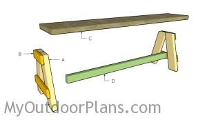 Building an outdoor bench seat