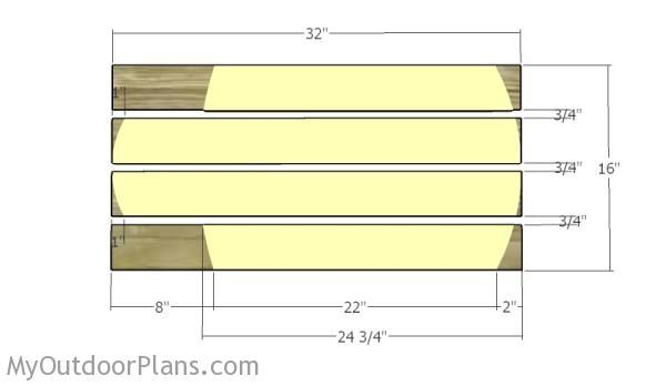 Building the seat slats