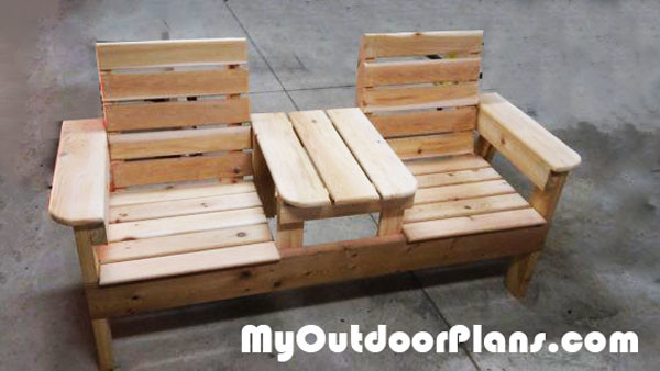 Chair Bench with Table | MyOutdoorPlans | Free Woodworking Plans ...
