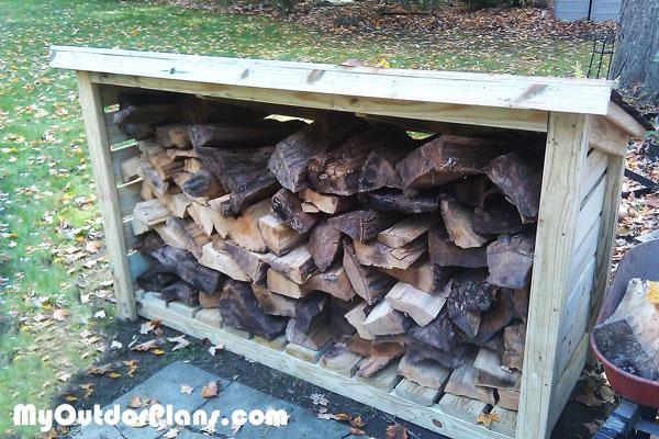 DIY Porch Wood Shed