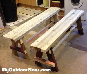 DIY Wood Bench Seat