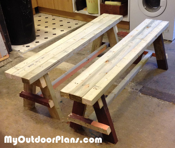 DIY Wood Bench Seat