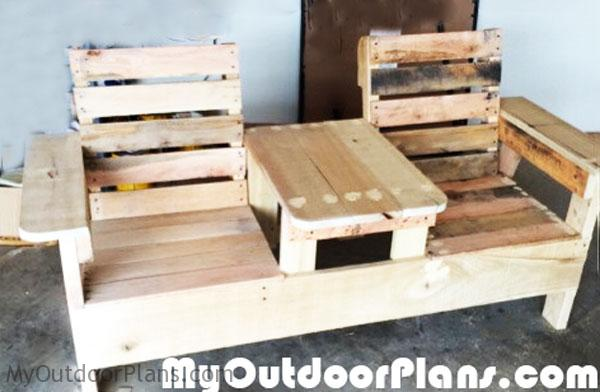 DIY Double Chair Bench