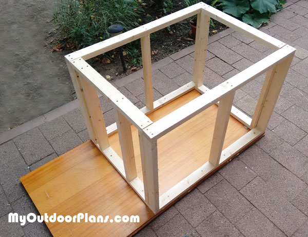 Dog house frame