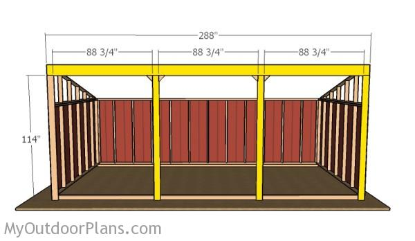 Loafing Shed Plans | MyOutdoorPlans | Free Woodworking ...